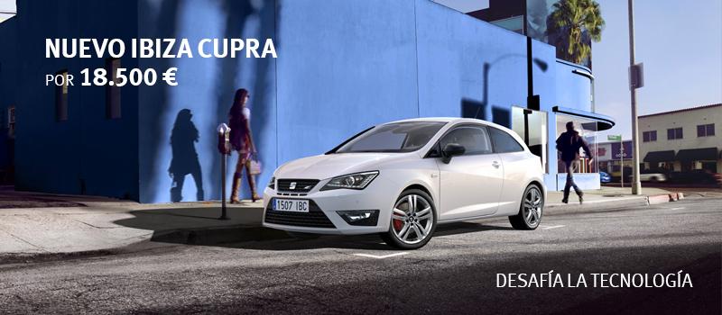 Llévate el Nuevo Ibiza CUPRA 1.4 TSI 180 CV por 18.500 €